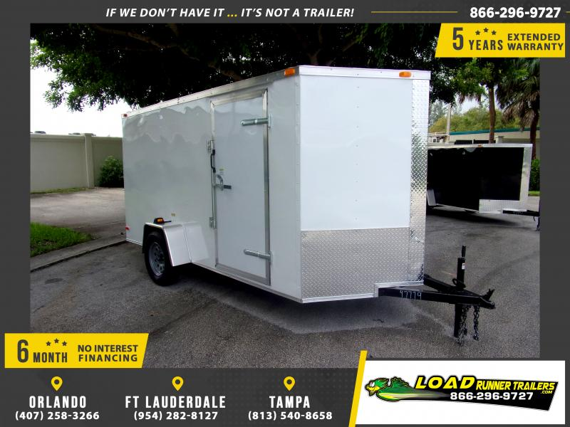 *112053* 6x12 Enclosed Cargo Trailer |LRT Haulers & Trailers 6 x 12