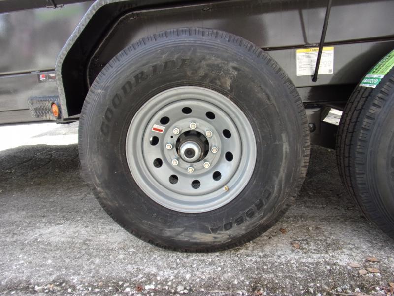 *115526* 7x14 Dump Trailer  LRT Tandem Axle Trailers 7 x 14