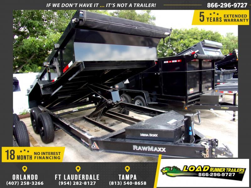 *117350* 7x14 Dump Trailer |LRT Tandem Axle Trailers 7 x 14