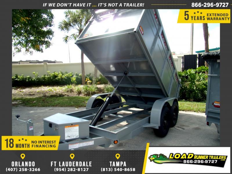*113864* 6x12 4' Walls Dump Trailer |LRT Dumps and Trailers 6 x 12