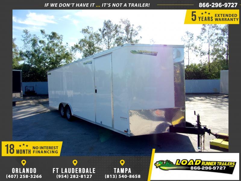 *111253* 8.5x24 Enclosed Cargo Trailer |LRT Tandem Axle Trailers 8.5 x 24