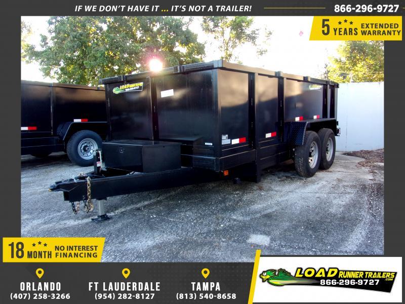 *115878* 7x14 Dump Trailer |LRT Tandem Axle Trailers 7 x 14