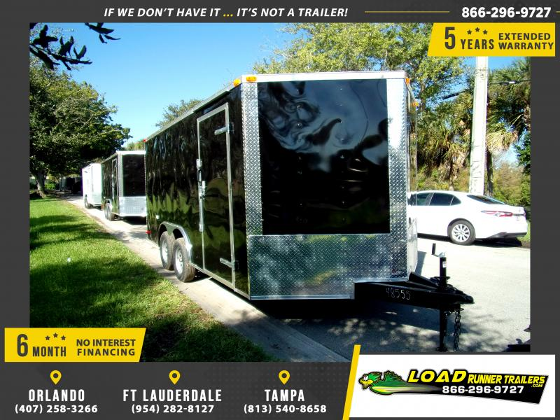 *112670* 8.5x16 Enclosed Cargo Trailer |LRT Tandem Axle Trailers 8.5 x 16
