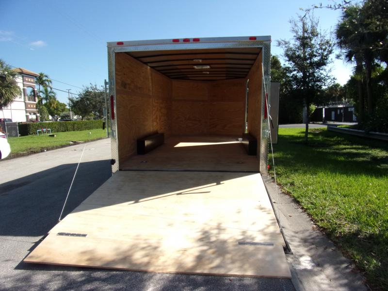 *112670* 8.5x16 Enclosed Cargo Trailer |LRT Tandem Axle Trailers 8.5 x 16