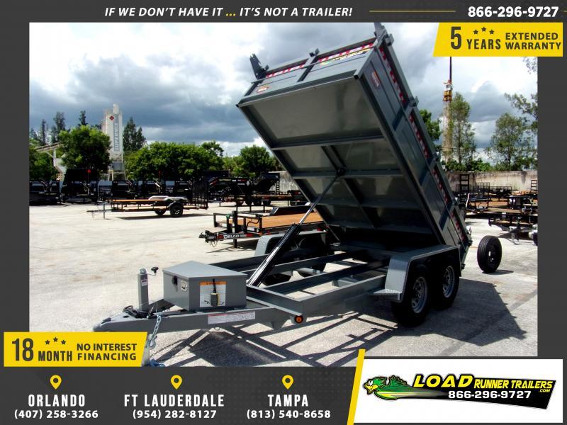 *111175* 6x12 5 TON Dump Trailer |LRT Trailers & Dumps 6 x 12