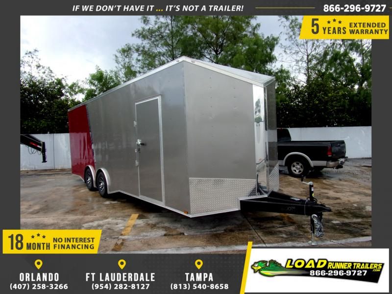 *110328* 8.5x24 Enclosed Cargo Trailer |LRT Tandem Axle Trailers 8.5 x 24