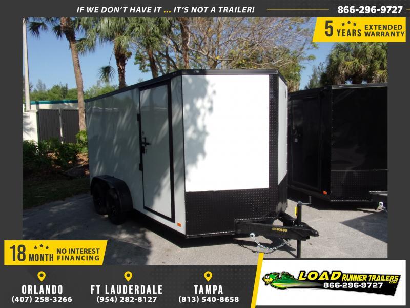 *114969* 7x14 Enclosed Cargo Trailer |LRT Tandem Axle Trailers 7 x 14
