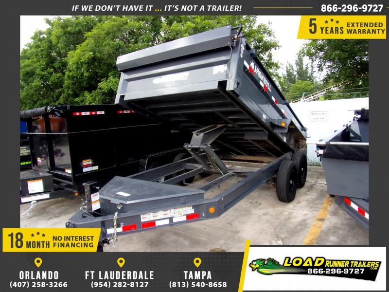 *115631* 7x14 Dump Trailer |LRT Tandem Axle Trailers 7 x 14