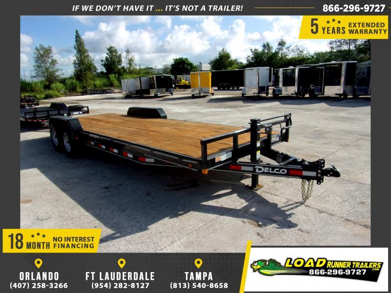 *110589* 7x24 Car Trailer  LRT Tandem Axle Trailers 7 x 24