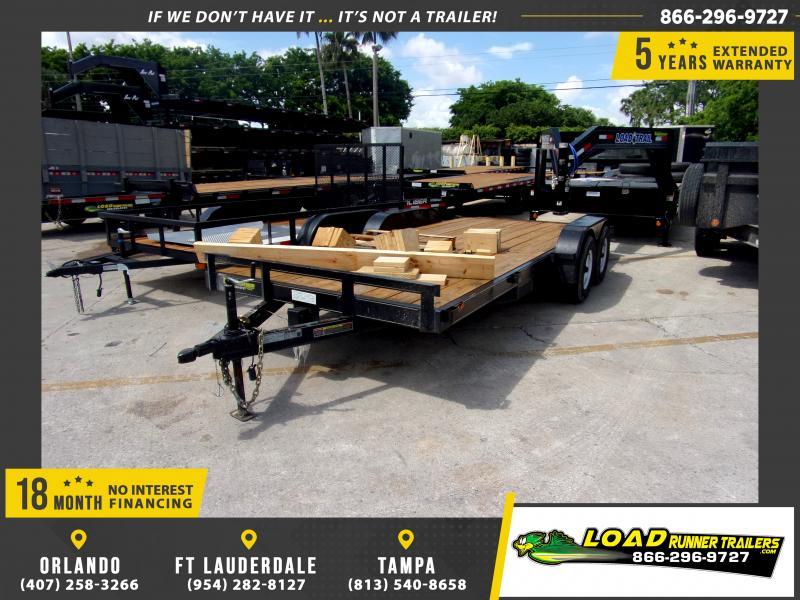 *115315* 7x18 Car Trailer |LRT Tandem Axle Trailers 7 x 18