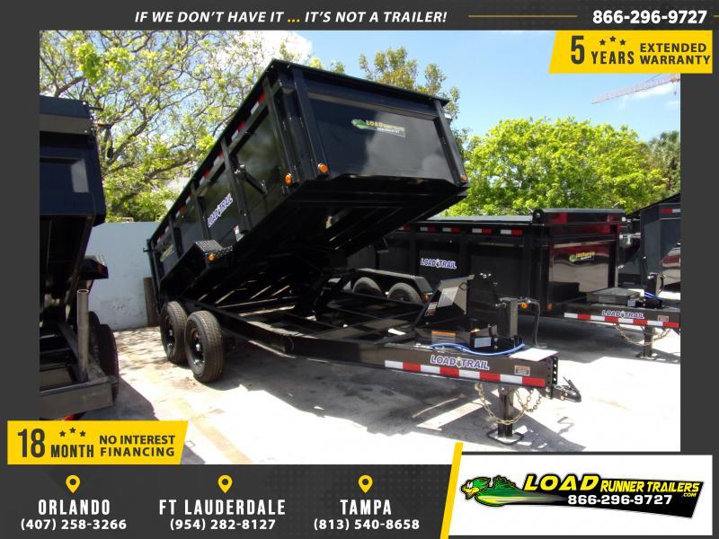 *114908* 7x14 Dump Trailer |LRT Tandem Axle Trailers 7 x 14