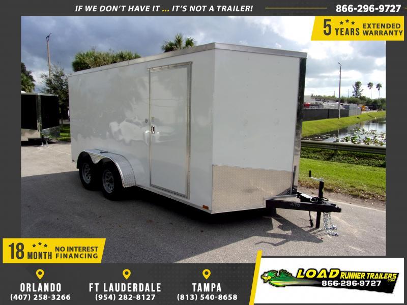 *112886* 7x14 Enclosed Cargo Trailer |LRT Tandem Axle Trailers 7 x 14