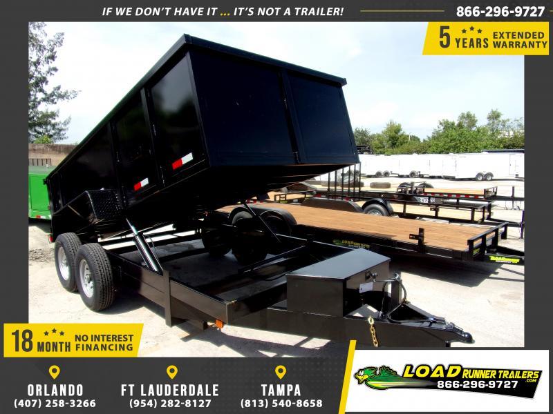 *116556* 7x14 Dump Trailer  LRT Tandem Axle Trailers 7 x 14