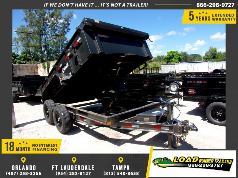 *116490* 7x12 Dump Trailer |LRT Tandem Axle Trailers 7 x 12