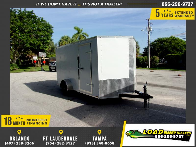 *116361* 7x12 Enclosed Cargo Trailer |LRT Haulers & Trailers 7 x 12