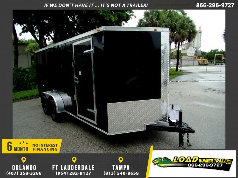 *116807* 7x16 Enclosed Cargo Trailer  LRT Tandem Axle Trailers 7 x 16
