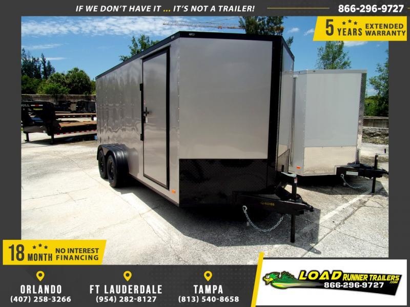 *109761* 7x16 Enclosed Cargo Trailer |LRT Tandem Axle Trailers 7 x 16