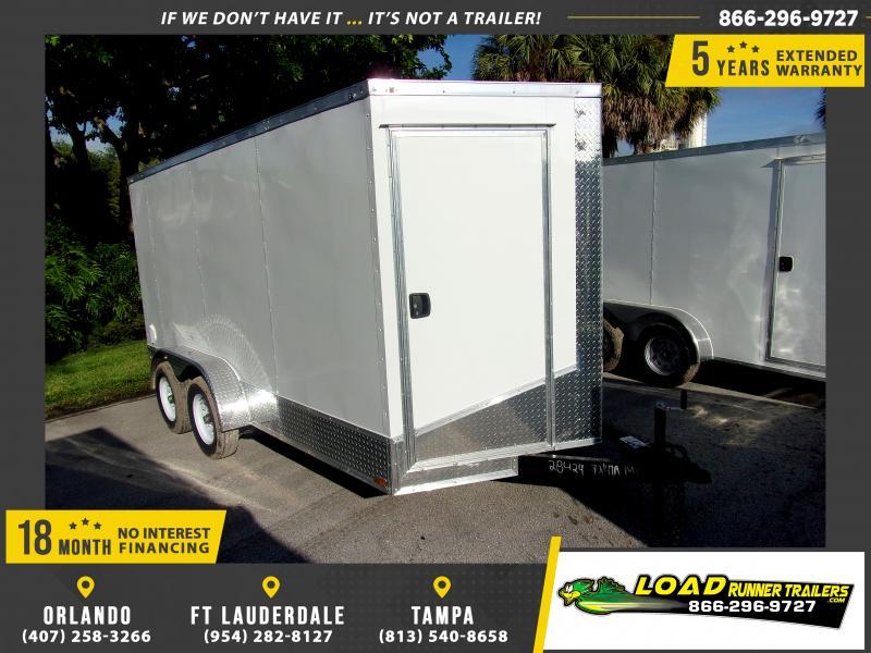 *117546* 7x14 Enclosed Cargo Trailer |LRT Tandem Axle Trailers 7 x 14