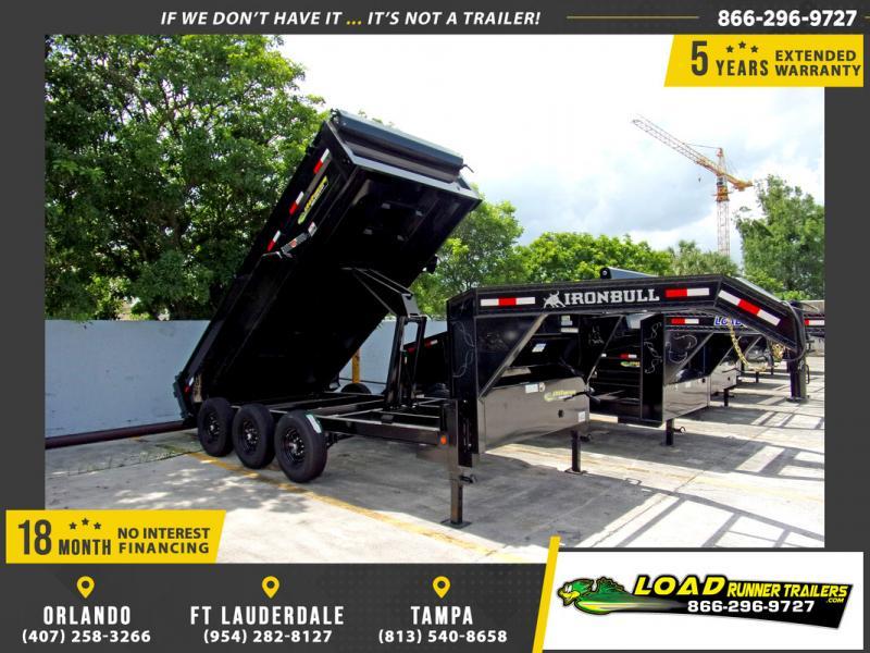 *109970* 7x16 Gooseneck Triple Axle Dump Trailer |LRT Axle Trailers 7 x 16