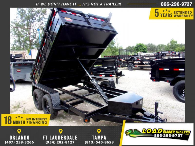 *110302* 6x10 Dump Trailer |LRT Tandem Axle Trailers 6 x 10