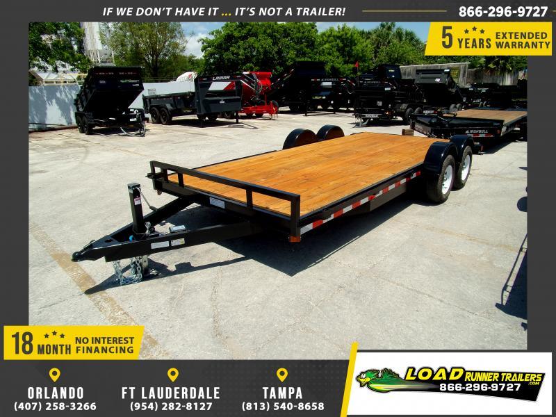 *115115* 7x18 Car Trailer |LRT Tandem Axle Trailers 7 x 18