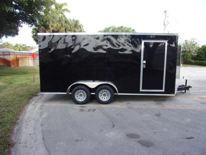 *113701* 7x16 Enclosed Cargo Trailer  LRT Tandem Axle Trailers 7 x 16