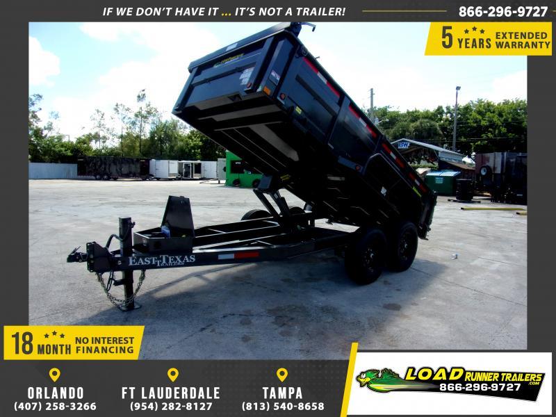 *111785* 7x14 Dump Trailer |LRT Tandem Axle Trailers 7 x 14