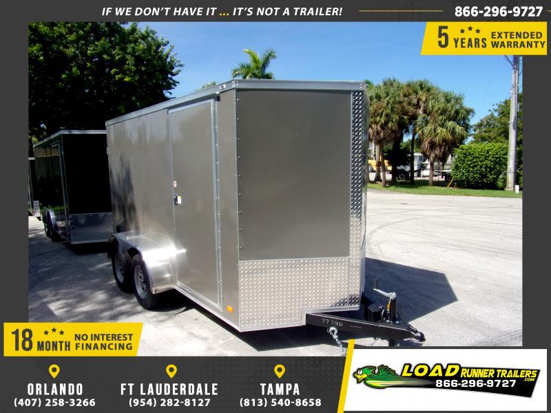 *117983* 6x12 Enclosed Cargo Trailer |LRT Tandem Axle Trailers 6 x 12