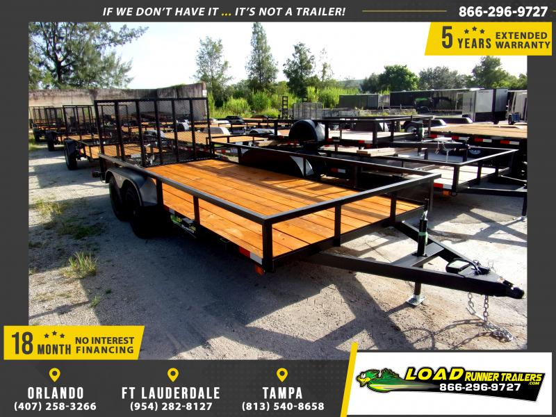 *113905* 7x16 Utility|Lawn|ATV|Multipurpose Trailer |LRT Tandem Axle Trailers 7 x 16