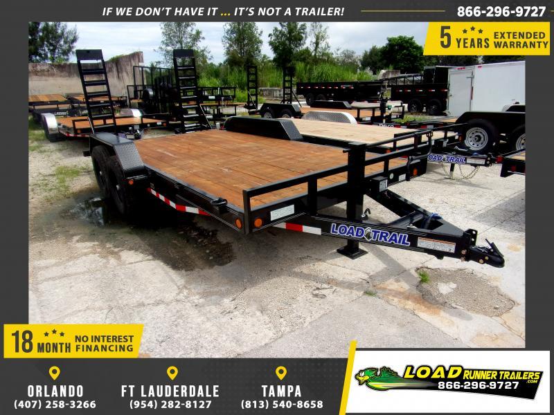 *117180* 7x16 Equipment Trailer |LRT Tandem Axle Trailers 7 x 16