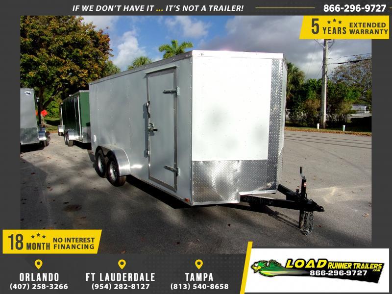*118017* 7x16 Enclosed Cargo Trailer  LRT Tandem Axle Trailers 7 x 16