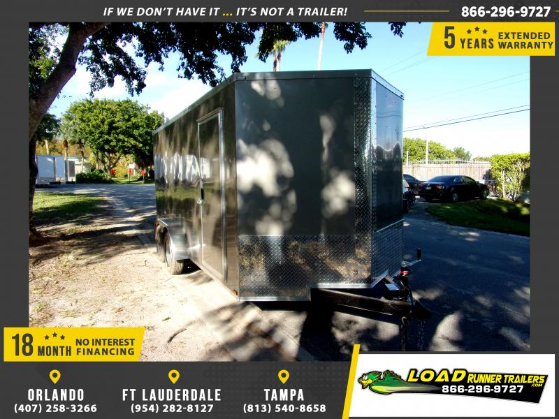 *112789* 7x16 Enclosed Cargo Trailer |LRT Tandem Axle Trailers 7 x 16