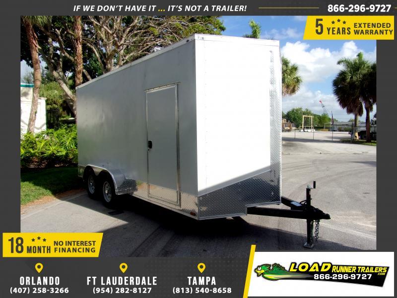 *117236* 7x16 Enclosed Cargo Trailer |LRT Tandem Axle Trailers 7 x 16