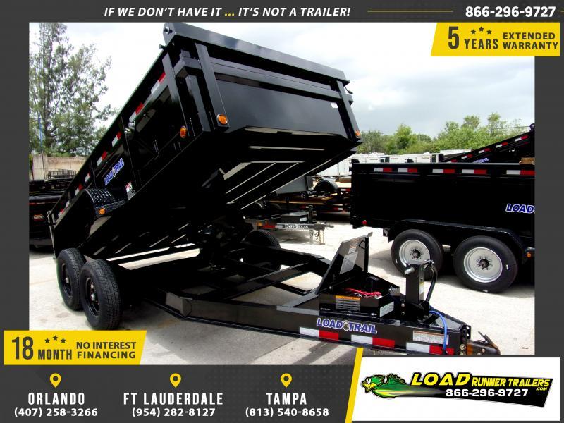 *115919* 7x14 Dump Trailer  LRT Tandem Axle Trailers 7 x 14