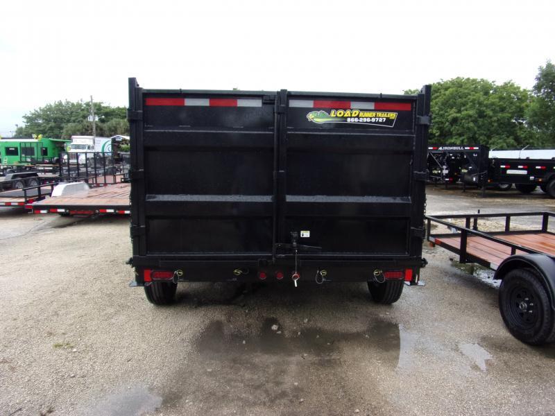 *111364* 7x14 Dump Trailer  LRT Tandem Axle Trailers 7 x 14