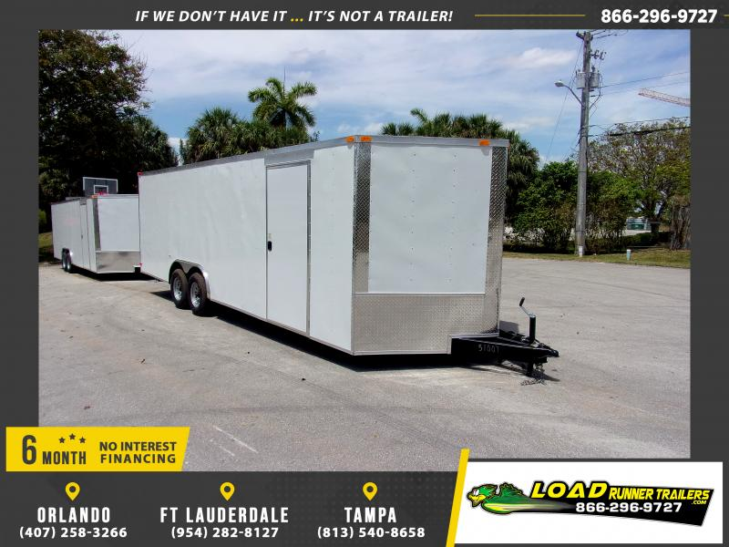 *116119* 8.5x24 Enclosed Cargo Trailer |LRT Tandem Axle Trailers 8.5 x 24