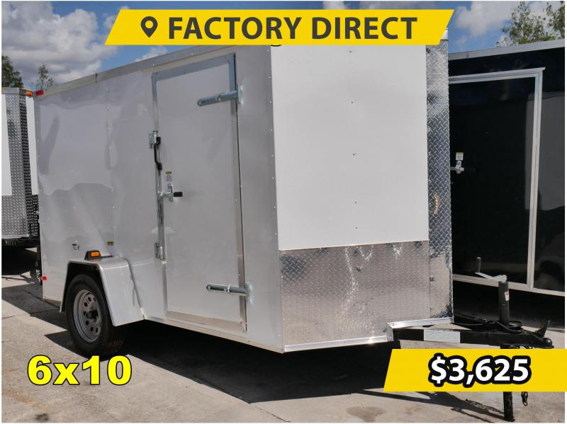 *FD610* 6x10 FACTORY DIRECT!| Enclosed Cargo Trailer |Trailers 6 x 10