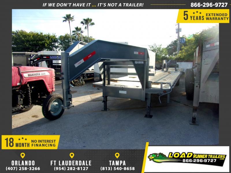 *114769* 8.5x32 Gooseneck Flatbed Deck Over Trailer  LRT Haulers & Trailers 8.5 x 32