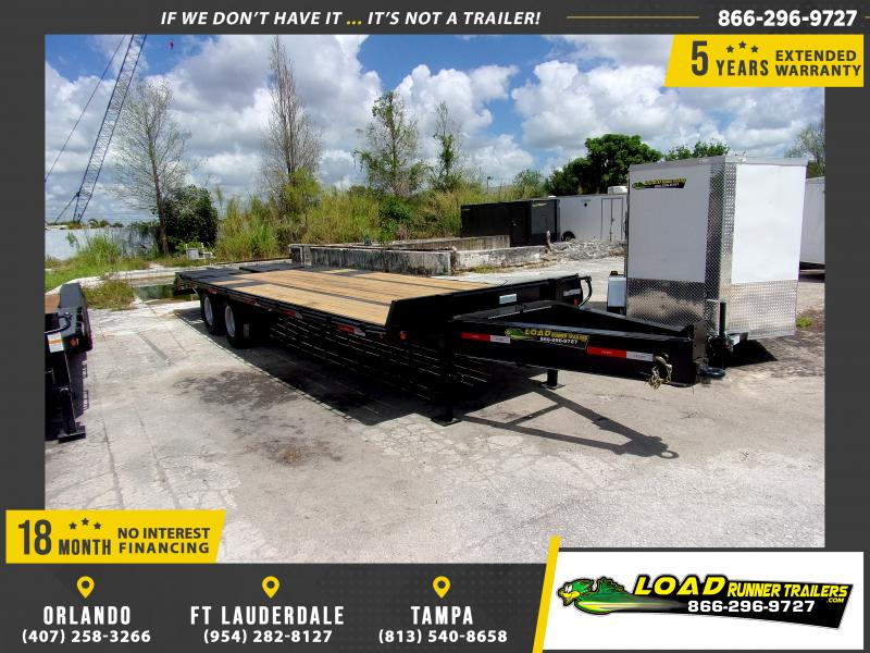 *114324* 8.5x25 Flatbed Deck Over Trailer |LRT Haulers & Trailers 8.5 x 25