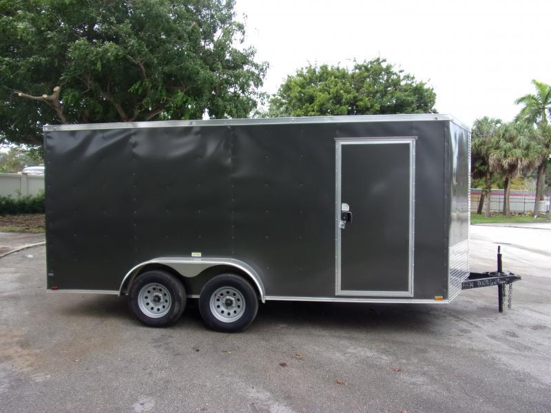 *112388* 7x16 Enclosed Cargo Trailer |LRT Tandem Axle Trailers 7 x 16