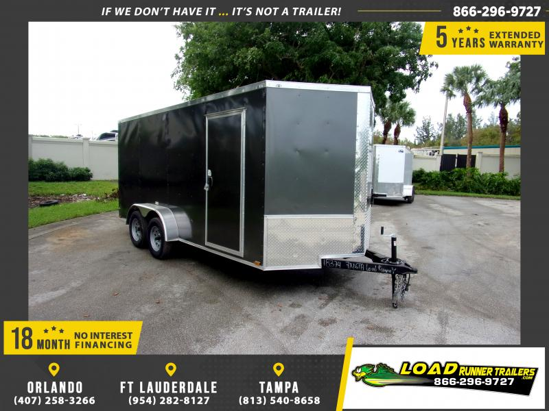 *112388* 7x16 Enclosed Cargo Trailer |LRT Tandem Axle Trailers 7 x 16