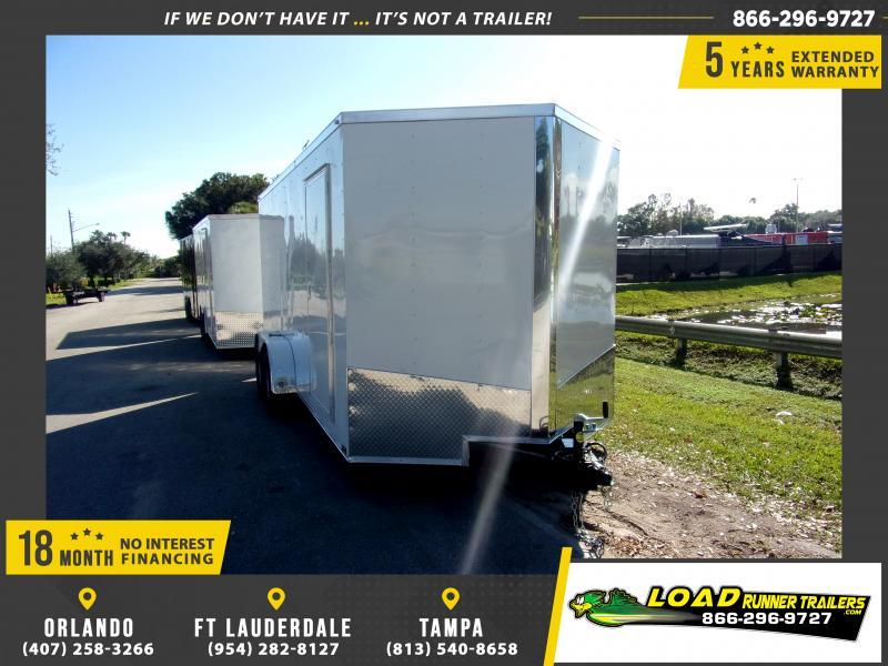 *116597* 7x16 Enclosed Cargo Trailer  LRT Tandem Axle Trailers 7 x 16