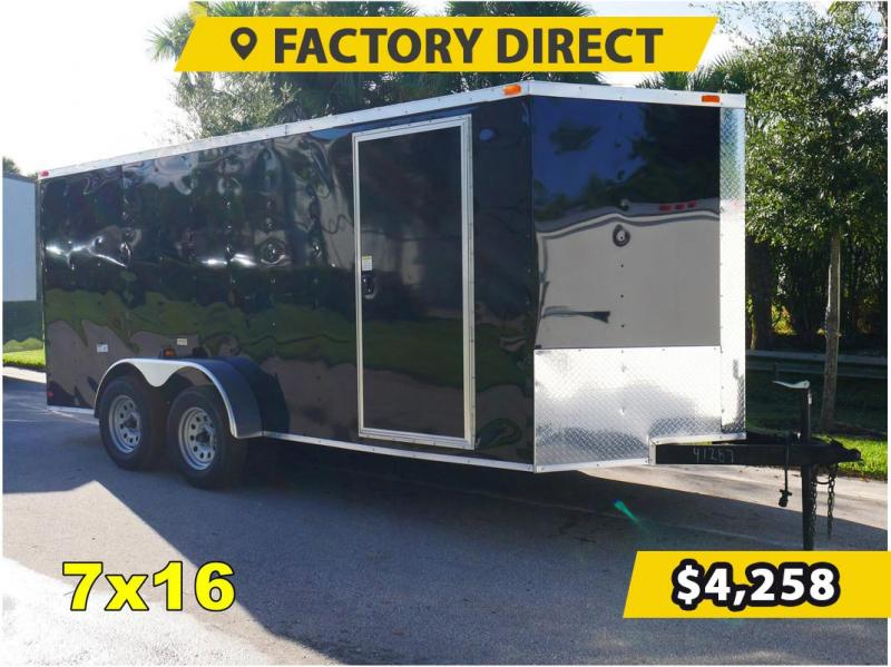*FD716T3* 7x16 FACTORY DIRECT!| Enclosed Cargo Trailer |Trailers 7 x 16