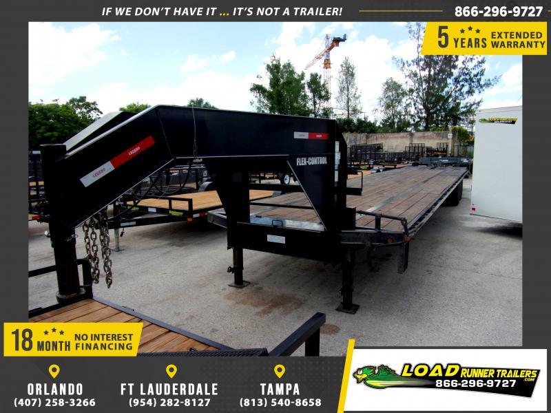 *115013* 8.5x40 Gooseneck Flatbed Deck Over Trailer |LRT Haulers & Trailers 8.5 x 40
