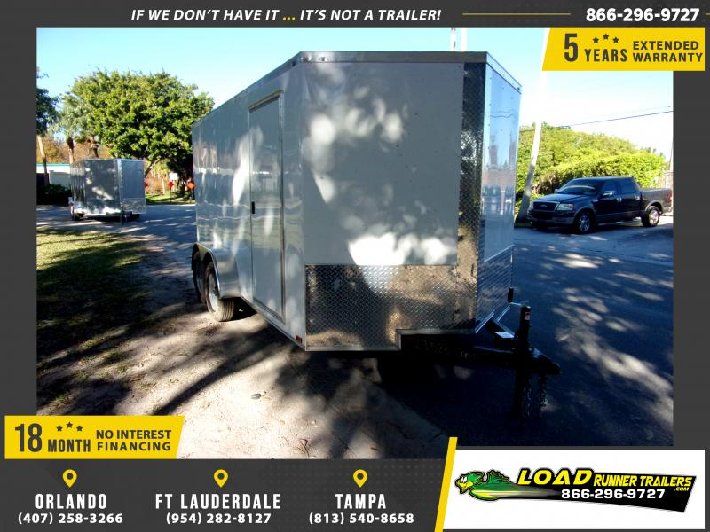 *114741* 7x14 Enclosed Cargo Trailer |LRT Tandem Axle Trailers 7 x 14