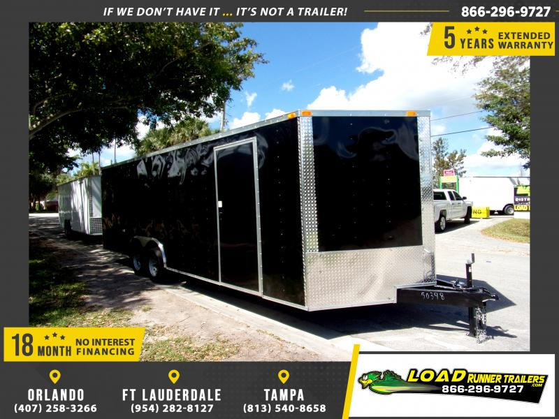 *113967* 8.5x24 Enclosed Cargo Trailer |LRT Tandem Axle Trailers 8.5 x 24