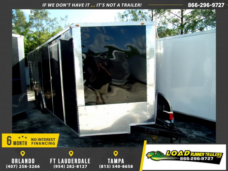 *117767* 8.5x20 Enclosed Cargo Trailer  LRT Tandem Axle Trailers 8.5 x 20