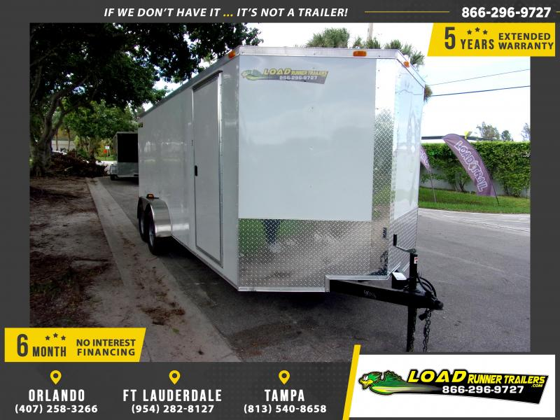 *112426* 7x18 Enclosed Cargo Trailer |LRT Tandem Axle Trailers 7 x 18