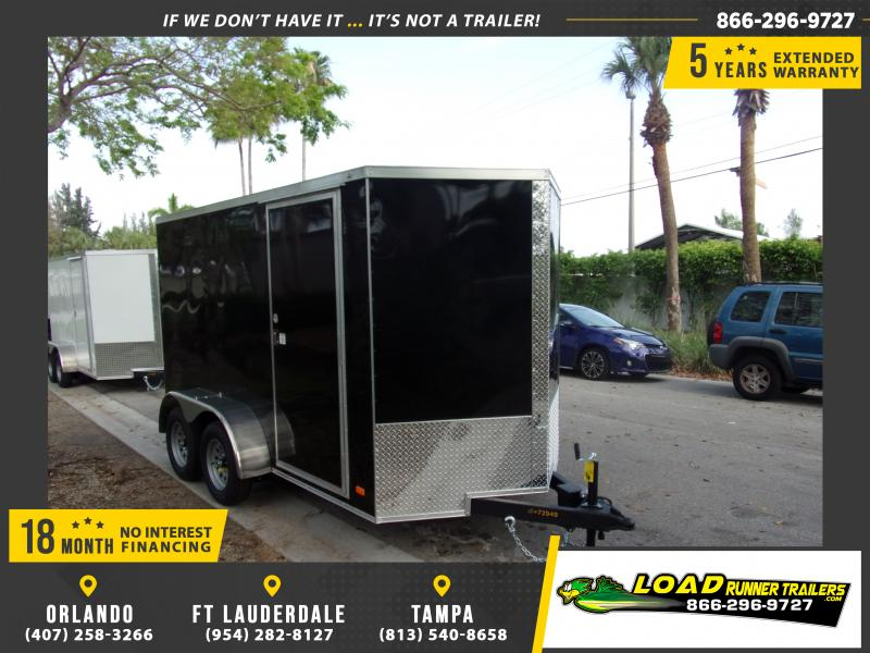 *114901* 6x12 Enclosed Cargo Trailer |LRT Tandem Axle Trailers 6 x 12