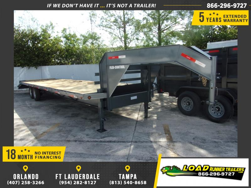 *114831* 8.5x32 Gooseneck Flatbed Deck Over Trailer |LRT Haulers & Trailers 8.5 x 32